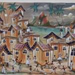Laettitia décore ses chambres en achetant des tableaux aux artistes locaux